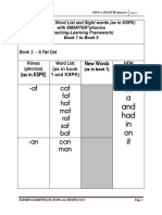 Mapping Integration of Word List and Sight Words