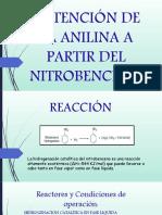 Obtención de La Anilina a Partir Del Nitrobenceno