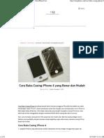 Cara Buka Casing iPhone 4 Yang Benar Dan Mudah