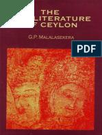 The Pali Literature of Ceylon