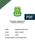 Additional Mathematics Project Work 2015-1