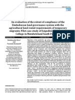 An evaluation of the extent of compliance of the Zimbabwean land governance system with the agricultural land rental requirements of temporary migrants