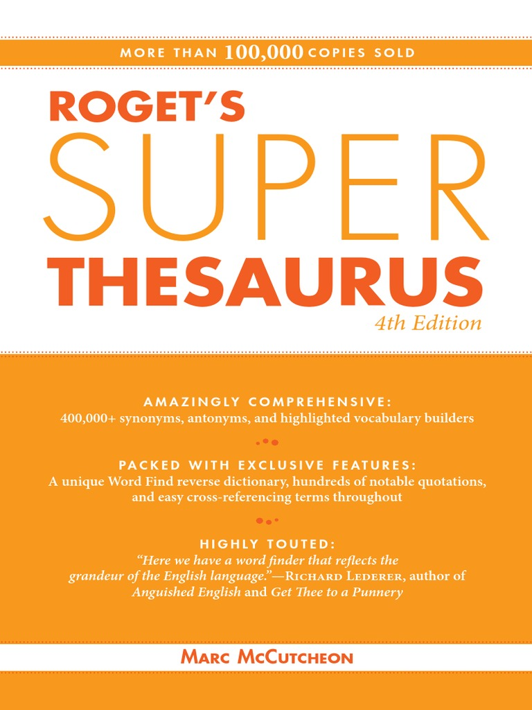 Rogets super thesaurus 4e 2010 adverb fandeluxe Choice Image