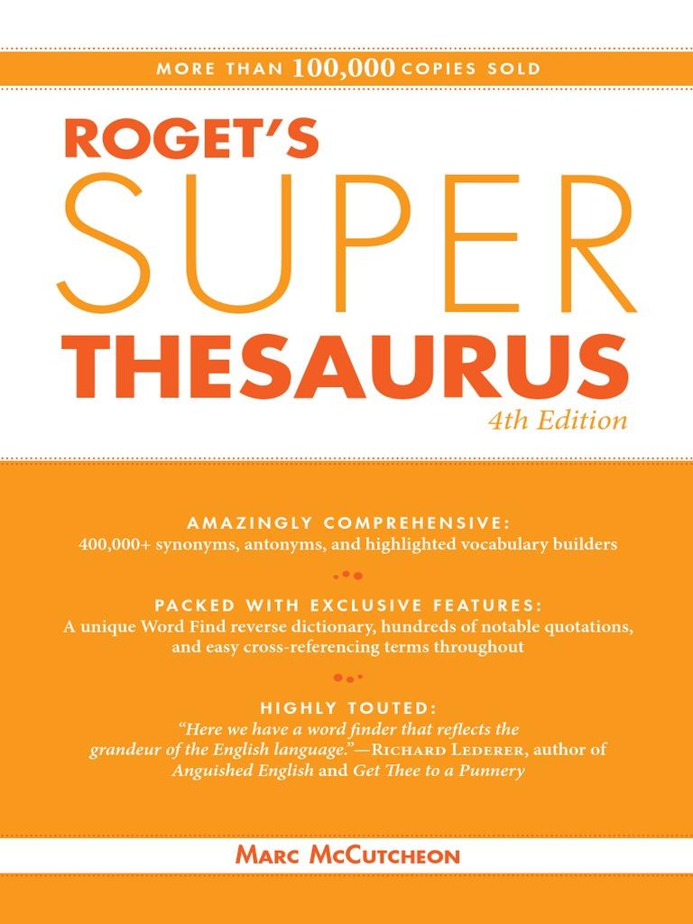 9d573cc1ba513 Roget s Super Thesaurus - 4E (2010)