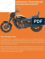 Renegade Sports S - The Best Upcoming Cruiser Motorcycle in India 2017