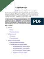 Coherentism in Epistemology