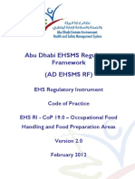 AD EHS RI - CoP - 19.0 - Occupational Food Handling and Food Preparation Areas