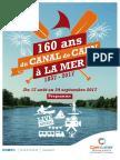 Programme des 160 ans Canal de Caen