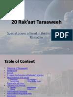 20 RakaatTaraaweeh