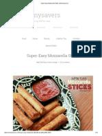 Super-Easy Mozzarella Sticks _ Mommysavers