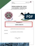 Informe de Laboratorio de Mecanica de Suelos 9 Corte Directo