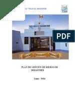 Plan de Gestión de Riesgo de Desastres-2016