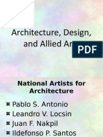 Contemporary Arts (Architecture and Allied Arts Design)