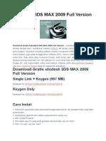 Autodesk 3DS MAX 2009 Full Version