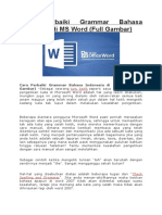 Cara Perbaiki Grammar Bahasa Indonesia Di MS Word