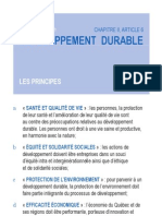 Développement durable principes