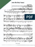 Praise His Holy Name - Music Sheet.pdf