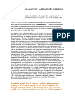 ENSAYO Problematica Alimenticia de COLOMBIA 10-2