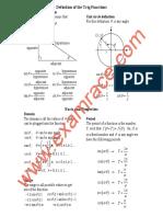 Mathematics Trigonometry