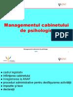 06 - Managementul Cabinetului de Psihologie