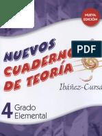 Nuevos Cuadernos de Teoria Musical - 4 Grado Elemental - Ibanez-Cursa