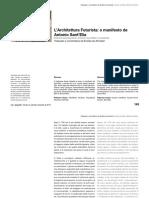 L'Architettura Futuista - o manifesto de Antonio Sant'Elia.pdf