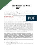 Ejercicio Repaso 02 Word 2007