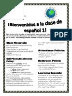 syllabus spanish 1 2017-2018