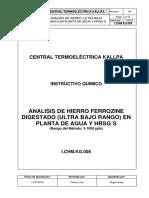 I.chm.KG.008 Análisis de Hierro (Ultra Bajo Rango)