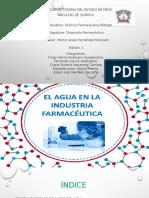 Agua en La Industria Farmaceutica