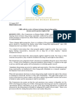 CHR Calls for Review of House-To-house Drug Testing Policy 082417 (1)
