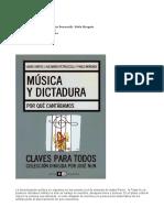 Música y Dictadura