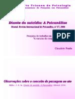 Diante Do Suicidio a Psicanalise 20160722145002