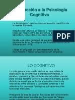 Introducción Psicología Cognitiva