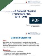 NEDA - The Draft National Physical Framework Plan 2016 to 2045