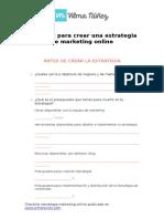 Checklist Para Crear Una Estrategia de Marketing Online