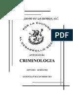 Antología de la Criminología