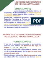Parámetros Generales, Dotaciones, Ecuaciones, Caudales de Diseño, Fuentes y Obras de Captación (1)