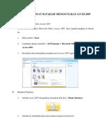 Tutorial Membuat Database Menggunakan Acces 2007