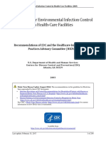 Guidelines for Envinronmental Infection Control in Health-Care Facilities 2003