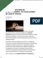 El Discreto Principio de Proporcionalidad - El Rincón Jurídico de José R
