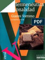 VATTIMO, Gianni (Compilador), Hermeneutica y Racionalidad.pdf