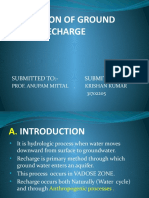 Ground Water Recharge