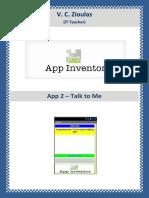 App Inventor Talk