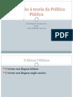 Apresentação Introdução a Políticas PúblicasEnriqueSaravia
