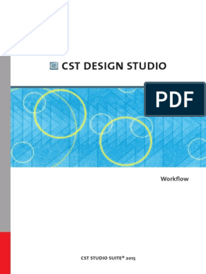 Cst Design Studio Workflow Visual Basic For Applications Spice