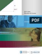 2017 Center for Realtor Development Course Catalog 08-23-2017