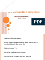 Sales Promotion Budjeting