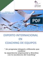 Experto Internacional en Coaching de Equipos