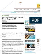 Leia 'Uma Carta Desastrada', Coluna de Roberto Campos Em 1995 - 17-04-2017 - Mercado - Folha de S